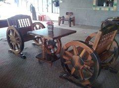 咖啡厅个性化老船木休闲