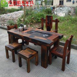 1.6米船木茶桌,巧意船木