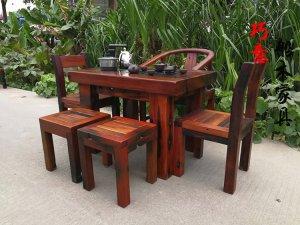 老船木小茶桌,船木客厅