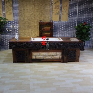 老船木办公台办公桌实木