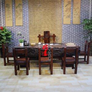 老船木龙骨茶桌,客厅茶