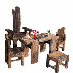 风化老船木茶桌,最有年