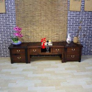 老船木电视柜,老船木电视组合柜,老船木实木家具定制