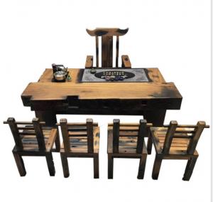 老船木机枕木茶桌茶台,原木色本色茶桌