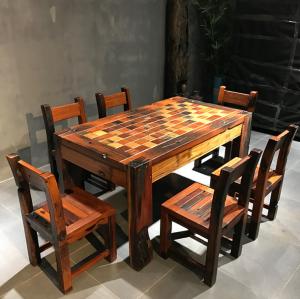 老船木马赛克餐桌饭桌