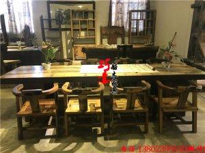 老船木光面桌厚10公分板式