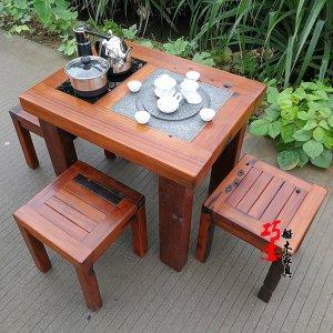 老船木阳台小茶桌推荐,阳台休闲系列小茶台茶几