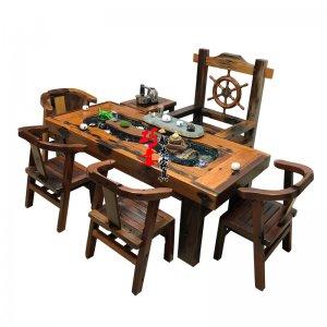 老船木流水茶桌价格图片整理集合