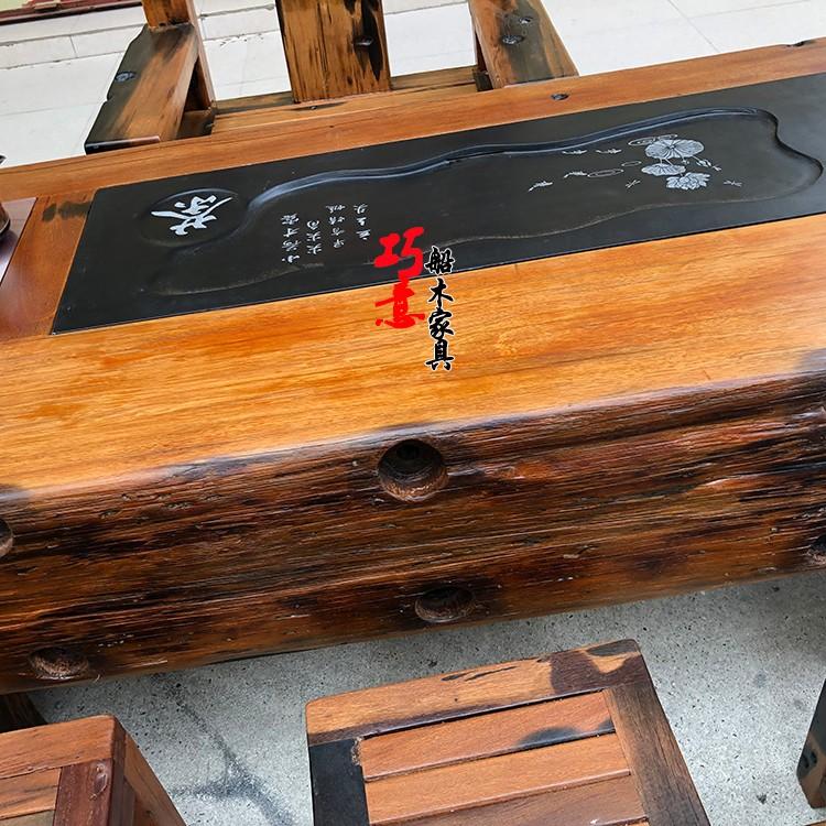 老船木茶桌5