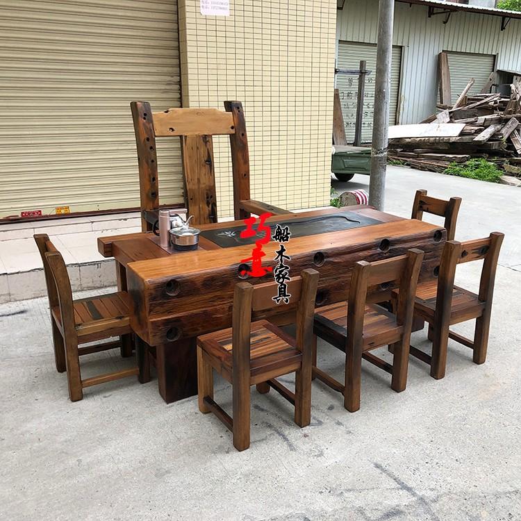 老船木茶桌4