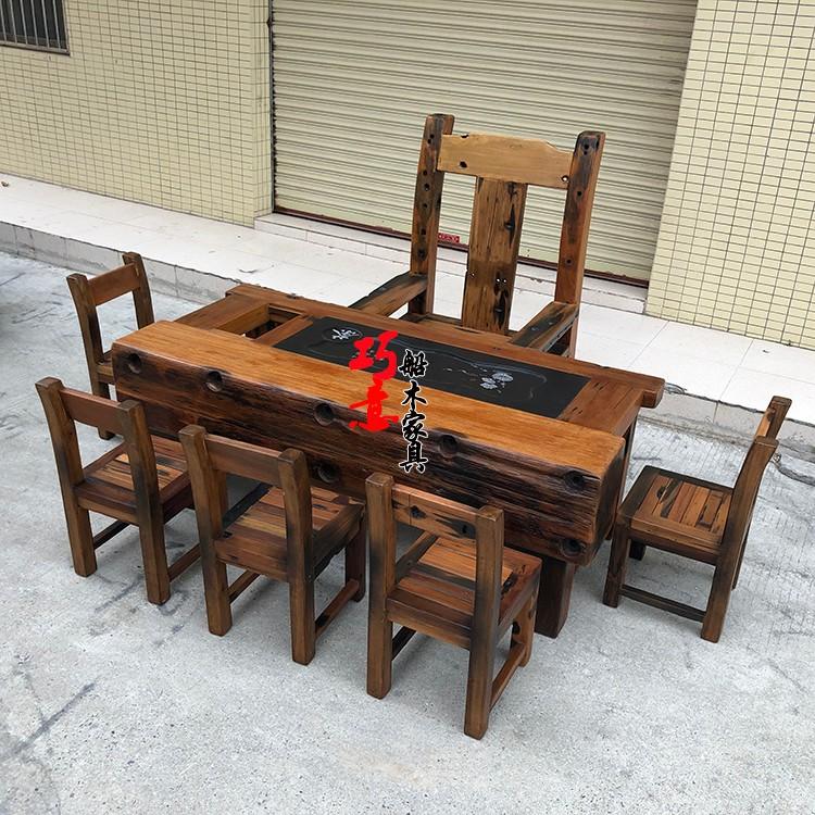老船木茶桌2