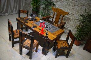 老船木茶桌,原木实木茶桌,古色古香的会客办公茶台
