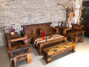 老船木沙发图片实木沙发客厅沙发6件套8件套11件套沙发款式图片定制